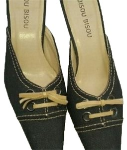 Bisou Bisou Dark Blue Retro Boho Mules