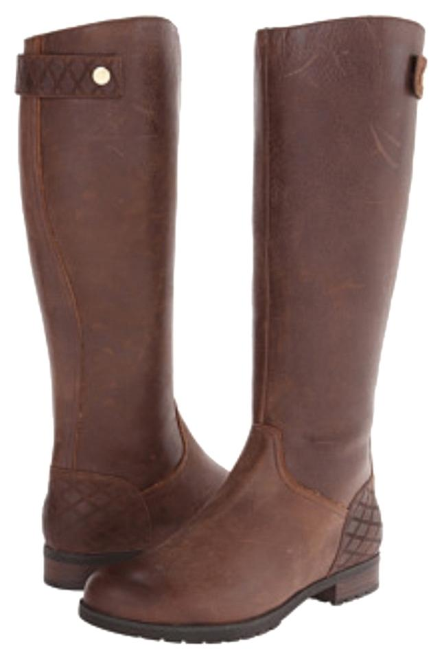 Rockport Brown Tristina Quilted Waterproof Boots Booties Size US 6.5 ... 49a73e15932c6