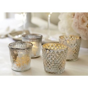 Pottery Barn Silver Votive/Candle