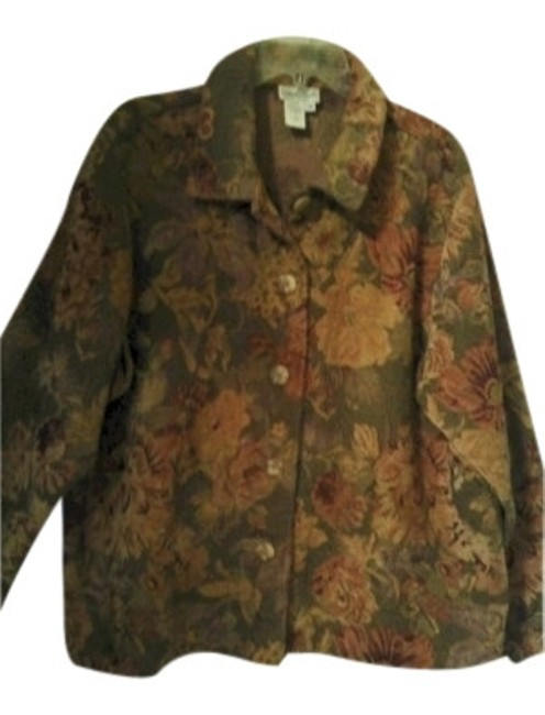 Preload https://img-static.tradesy.com/item/9838/coldwater-creek-sage-green-tapestry-wgold-cream-and-rust-accent-floral-spring-jacket-size-20-plus-1x-0-0-650-650.jpg
