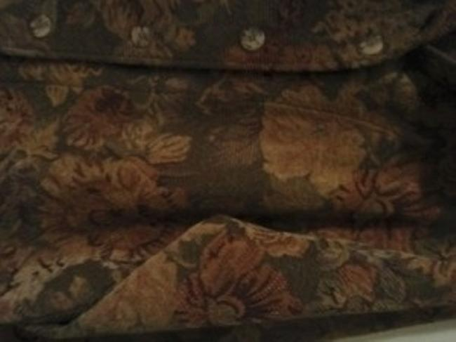 Coldwater Creek Sage Green Tapestry w/Gold, Cream, and Rust Accent Jacket