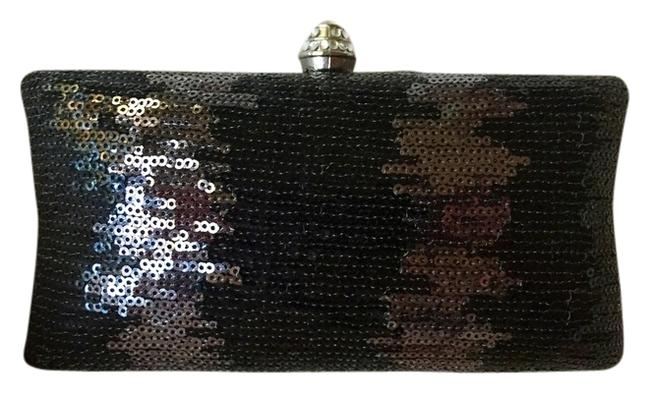 Item - Black and Silver Sequined Clutch