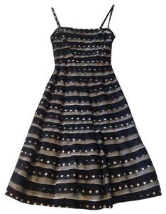 BCBGMAXAZRIA Polka Dot Bcbg Fit And Flare A-line Striped Dress