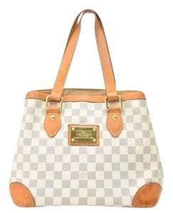 Louis Vuitton Hampstead Pm Damier Leather Tote in Azur