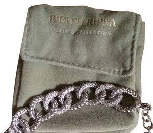 Judith Ripka JUDITH RIPKA STERLING COLLECTION TOGGLE BRACELET Called A Limited Edition Curb Bracelet