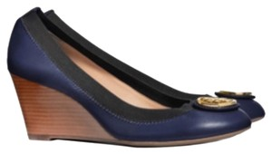 Tory Burch Caroline Pumps Reeva Clare 65 Mm Tote Jewelry Blue Wedges