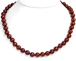 Other Gorgeous 8mm Brown Freshwater Pearl Necklace