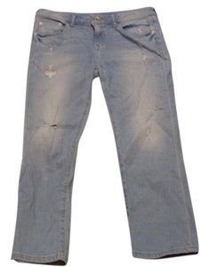 a.n.a. a new approach Distressed Boyfriend Cut Jeans-Light Wash