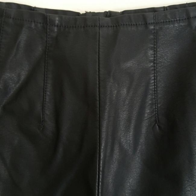 Pins and Needles Shorts Black leather