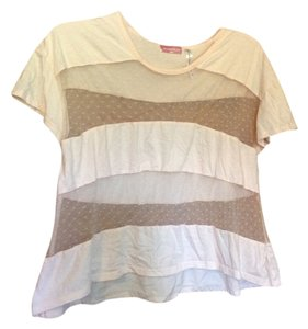 O'Neill Crop Sheer Summer Night Out T Shirt Light Pink