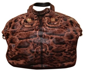 9babe2d4e7 Givenchy Designer Nightingale Nightingale Tote in Brown and Black with Gold  Hardware