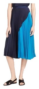 Theory Pleated Skirt Navy Blue, blue