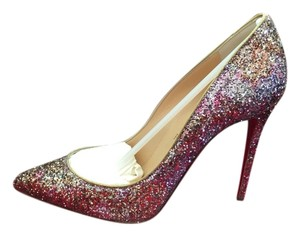 Christian Louboutin Pink Gold Glitter Pumps