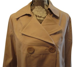 Via Spiga Jacket Fall Textured Xl 16 18 14 New Plus Modern Cream Trench Coat