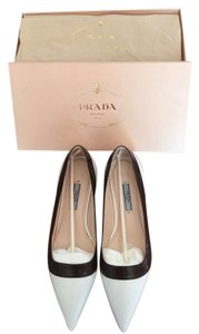 Prada black white Flats