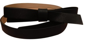 Kate Spade Black Bow Leather Belt Size Small