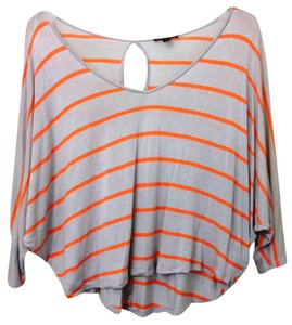 Express Circle Top Orange Stripe