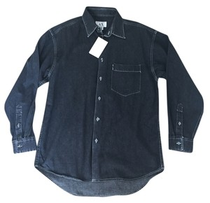 A|X Armani Exchange new black button down shirt S