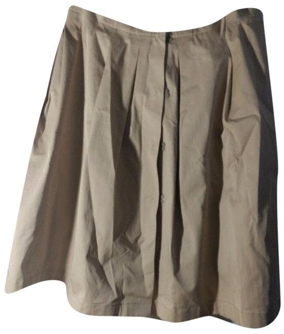 Item - Beige Pleated Wrap A Line 38 Skirt Size 2 (XS, 26)