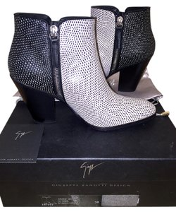Giuseppe Zanotti Leather Chanel Christian Louboutin Givenchy Black and white Boots