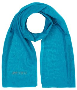 Jimmy Choo Jimmy Choo scarf turquoise , 56% Silk, 32% Cotton, 12% Polyamid #37123 NewCollection