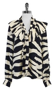 Kate Spade Catarina Cream Black Zebra Top