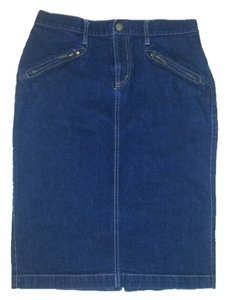 Ralph Lauren Jean Denim Lauren Skirt Blue