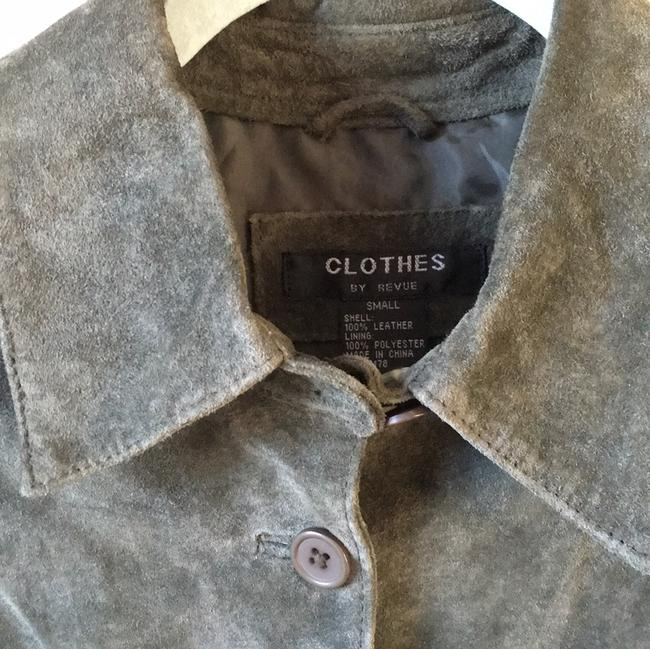 Other Lightweight Suede Sundance Like Shirt Tail Soft Green Leather Jacket