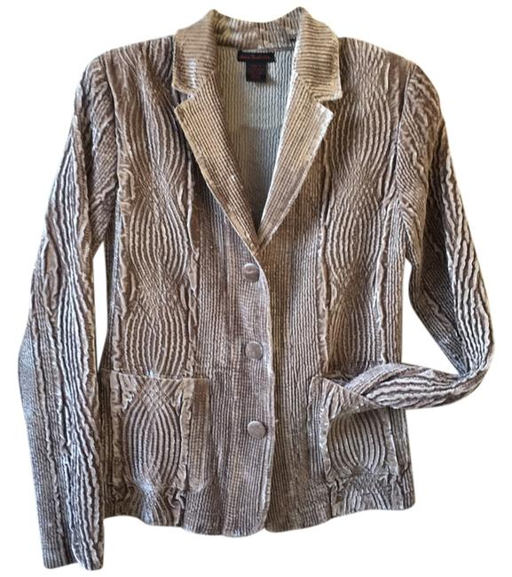 Preload https://img-static.tradesy.com/item/9843415/pewter-brown-velvet-spring-jacket-size-4-s-0-1-650-650.jpg