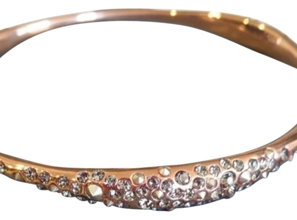 Alexis Bittar Rose Gold Tone Bangle With Crystal Embellishment