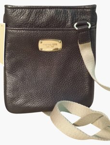 Michael Kors Leather Burgundy Casual Cross Body Bag