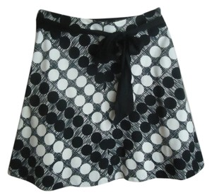 Anthropologie Elevenses Dot Black And White Skirt