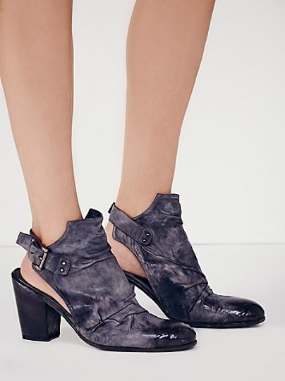Free People J Ghost Reign 38 Distressed Washed Navy (Indigo) Boots