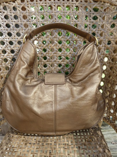 Coldwater Creek Designer Leather Metallic Hobo Bag