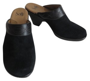 Söfft Sofft Soft Leather Black Mules