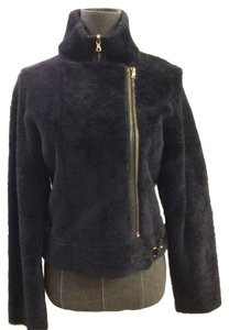 J Brand Shearling Jacket Navy Fur Coat