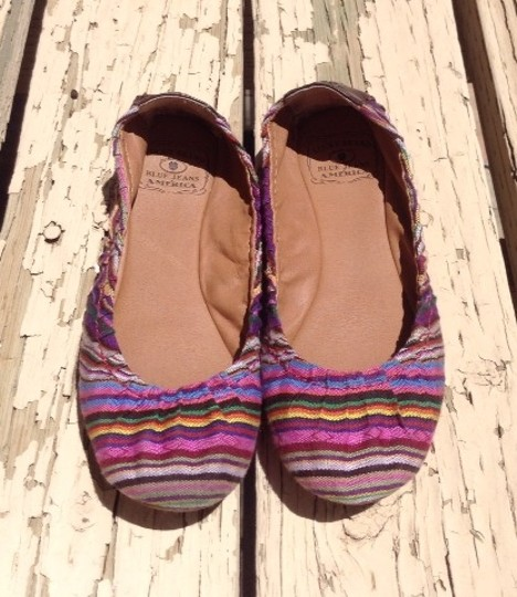 Lucky Brand Fabric Size 7 Ethnic Emmie Multi Flats