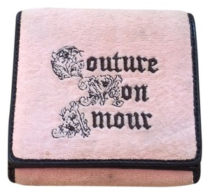 Juicy Couture Terry Cloth Juicy Couture Wallet with Stitched Emblem Detailing