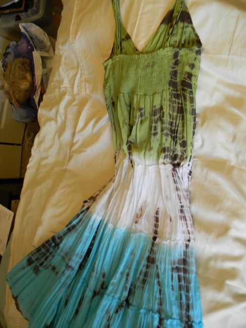 VASNA design short dress Green, Torquoise, White Tie Dye Wore Once on Tradesy