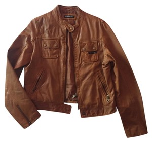 Members Only Leather Camel Leather Jacket