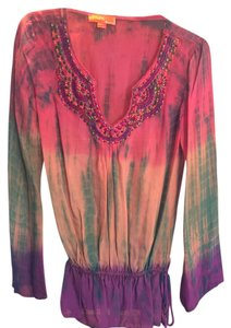 Hale Bob Silk Tie Dye Chiffon Multi New With Tags Tunic
