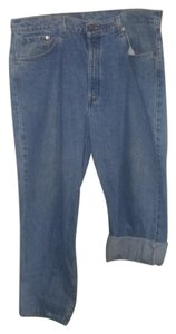 Levi's Wash Rolled Cuffs Relaxed Fit Jeans-Medium Wash