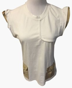 Burberry T Shirt White and beige