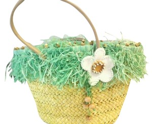 Michael Simon Tote in STRAW/GREEN