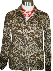 CARLIE'S COURT Top ANIMAL PRINT
