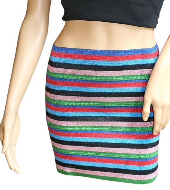Preload https://item1.tradesy.com/images/pleasure-doing-business-rainbow-sparkle-stripe-bandage-miniskirt-size-4-s-27-984560-0-0.jpg?width=400&height=650