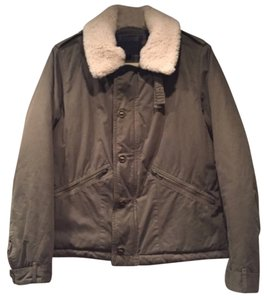 J.Crew Shearling Army Down Plaid Military Jacket