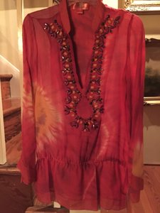 Hale Bob Silk Cabana Beaded New With Tags Tunic