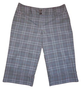 BCX Plaid Cuffed Capris