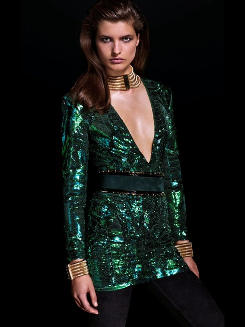 Item - Emerald Green Sequined Mini Cocktail Dress Size 2 (XS)